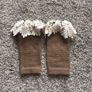 Brown Boot Cuff Toppers